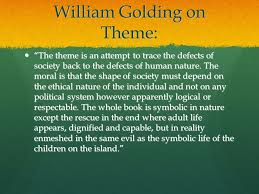 "themes in the lord of the flies william golding on theme ""the  3 william"