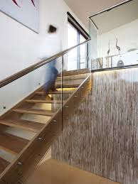 adorable glass staircase design houzz glass stair railing design ideas remodel pictures