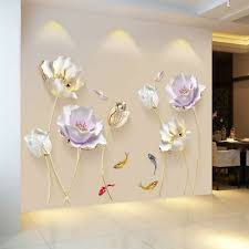 wall 3d flower wallpaper sticker decal