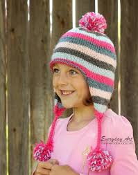 Child Knit Hat Pattern Simple Everyday Art Children's Knit Ear Flap Hat Pattern Free Chicks