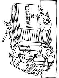 Kleurplaat Duitse Brandweerwagen Kleurplatennl