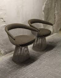 platner furniture. model 1725a armchairs by warren platner for knoll international 1960s set of 2 furniture