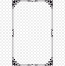 border simple design png image with