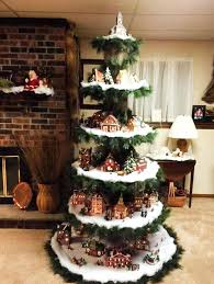 Christmas Tree Village Display Stands Cool Awesome To Do Tree Platform Ideas On Wheels Stand Design Train