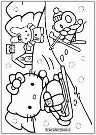 Kleurplaat Hello Kitty Kerstmis