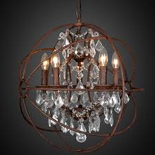 brilliant impressing modern vintage orb crystal chandelier regarding with crystals designs 10