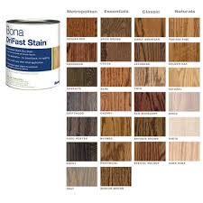 Bona Fast Dry Stain Color Chart Bona Drifast Stain