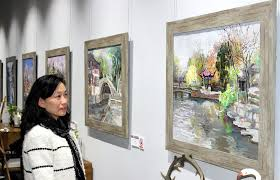 chinese contemporary oil paintings exhibition held in suzhou
