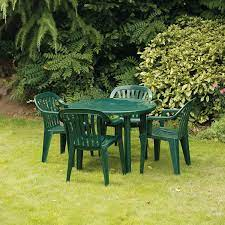 plastic table chairs for garden off