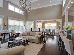amazing great room chandelier contemporary great room with high ceiling amp wainscoting in roxbury