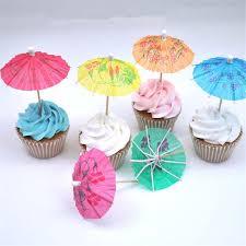 10 Pcs Mini Kreatif Payung Cupcake Baby Shower Unicorn Dekorasi Diy