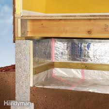 use plastic sheeting to control moisture in your crawlspace