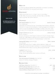 Sample Resume Graphic Designer Resume Template Directory