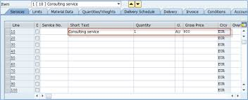 Purchase Order Template Open Office Magnificent Service Purchase Order In SAP ME48N