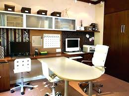 home office with two desks. Desks For Two People Home Office Desk With  U