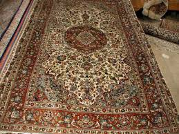 blue and mauve qum fl perisan rug