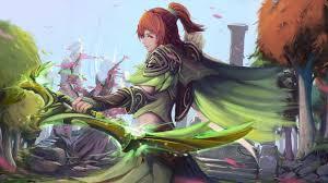 windranger dota 2 game fantasy girl wallpaper 4268