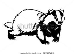 Image result for badger silhouette