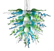 large glass chandelier ocean mist large hand blown art glass chandelier large chandeliers glass shade