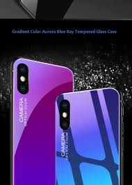 bakeey grant color aurora blue ray tempered glass