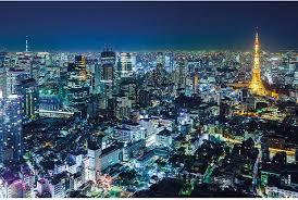 Picture Decoration Tokyo Skyline Night ...