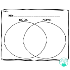 Book Vs Movie Venn Diagram Book Vs Movie Ideas For You Live Laugh Love To Learn