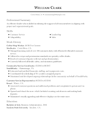 Sample Functional Resume For Customer Service