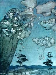 hanging the moon and stars from rip van winkle by arthur rackham hanging the moon and stars from rip van winkle by arthur rackham