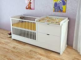 Diese seite kannst du übrigens ganz individuell nutzen, um dein perfektes babybett zu finden. Serina Babybett Mit Wickelkommode Jugendbett Kinderbett Kommode 120x60cm 4in1 Weiss Kombi Baby Amazon De Kuche Haushalt