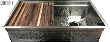 kitchen sink with cutting board custom stainless steel sinks under mount and workstation by stainless steel