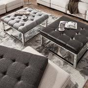 INSPIRE Q Solene Square Base Ottoman Coffee Table   Chrome By Brown