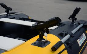 rod holder for inflatable boat with railblaza starport base