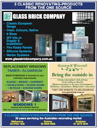 the glass brick company melbourne supplies the australian home renovating market with the following s
