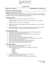 Sample Resume Waiter Cook Cover Letters Simple Profit And Loss