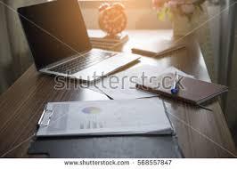 laptop office desk. Simple Laptop Business Executive Office Desk Background ConceptBusiness Computer Empty  Table With Desktop Laptop On Laptop Office