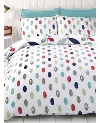 lulu fl double white blue red duvet cover bedding set
