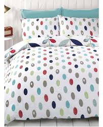 lulu fl double white blue red duvet cover bedding set