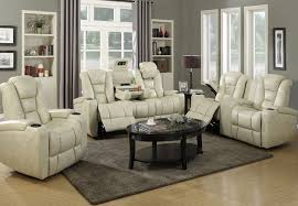 ausen transformer cream power reclining sofa and power reclining console loveseat