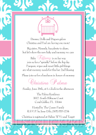 Baby Sprinkle Tiffany Blue Pink Damask Baby Shower Invitation ...