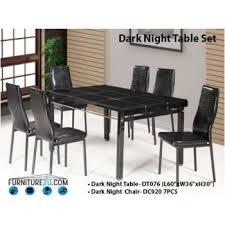 dark night brown dining set