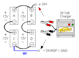connecting batteries & chargers in series & parallel deltran 3 Bank Battery Charger Diagram figure 11 four batteries in series parallel (example 1), one charger 3 bank battery charger diagram