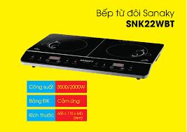 Bếp từ đôi cảm ứng Sanaky SNK-22WBT - giá rẻ - ĐIỆN MÁY ÁNH CHINH