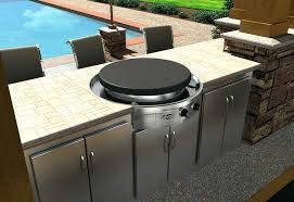 built in gas grill smoker combo island plans outdoor kitchen cabinets frame kit