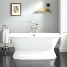 two sided bathtub cast iron double ended pedestal tub tap deck two sided skirted bathtub
