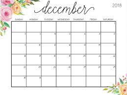 December Calendar Template For Kids
