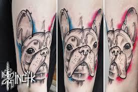 Martin Tattooer Zincik French Bulldog Tattoo Design Illustration