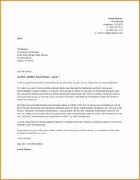 Community Mental Health Worker Cover Letter Alexandrasdesign Co