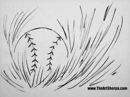The Baseball In Grass Coloring Page