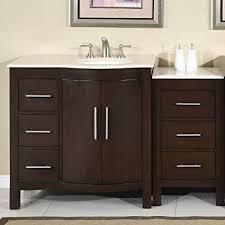 How Tall Is A Bathroom Vanity Gorgeous 48 Single Sink Crema Marfil Marble Top Bathroom Vanity Cabinet