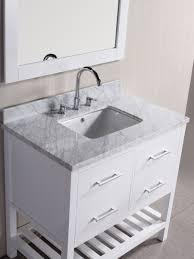 single white bathroom vanities. White Bathroom Vanity With Carrera Marble Top 36 Single Vanities U